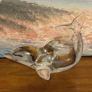 Dolphin glass figurine